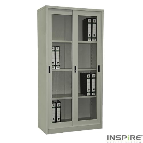 IS212 Full Height Glass Sliding Door Cupboard