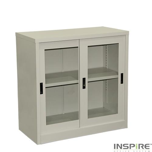 IS202 Half Height Glass Sliding Door Cupboard